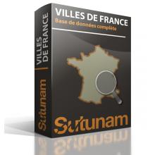 Base de données Villes de France + Outil de recherche